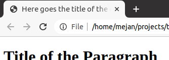 document title html